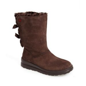 New Ugg Knotty Faux Shearling Lined Boot